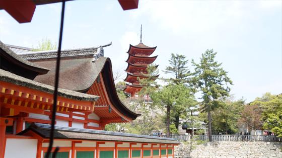 Der Itsukushima Tempel.