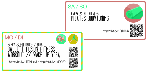Die Fitnesskarten geben euch 30 Tage lang Übungen.