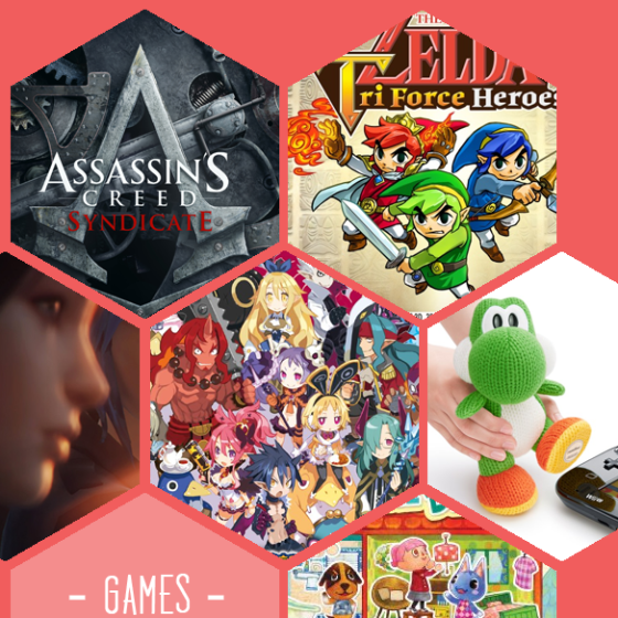 Das erwartet euch im Herbst: Assassin's Creed Syndicate, Zelda Triforce Heroes, Life is strange, Disgaea 5, Mega Woll Yoshi und Animal Crossing: Happy Home Designer