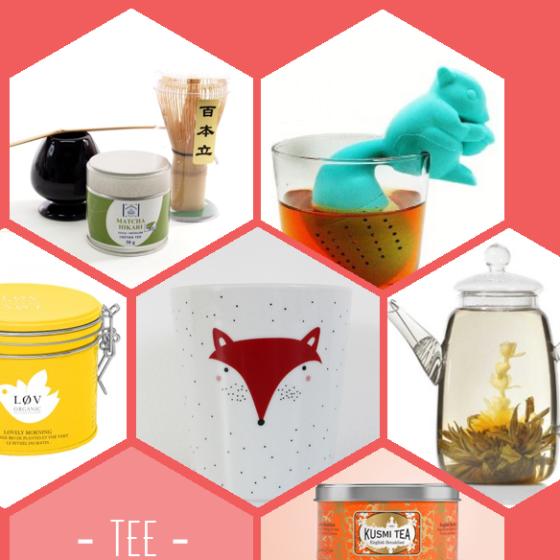 Matchatee, Eichhörnchen Teesieb, Løv-Tee, Teefuchs Tasse, Glasteekanne, Kusmi-Tee