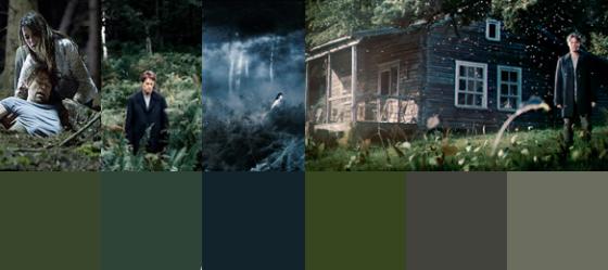 Grün- und Blautöne mit einem dunklen Graustich. Das ist Antichrist.