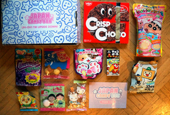 Alle Süßigkeiten der Mai Japan Candy Box.