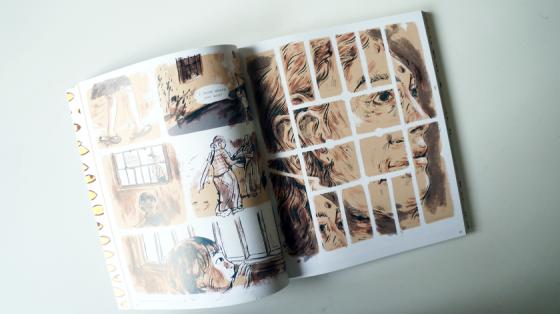 Looking Up von Renshu Singh ist ein fein gezeichneter Comic, der ein indisches Leben in Braun- und Blautönen beschreibt.