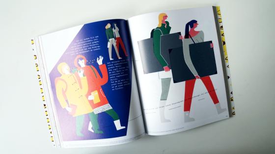 Töchter ist ein Comic, der Scherenschnitt und Zeichnungen, oder lediglich nur Zeichnungen, die aussehen wie Scherenschnitte, mit der Frage nach dem idealen Beruf für kreative Menschen vermischt. Erzählt wird die Geschichte von Stephanie Wunderlich.