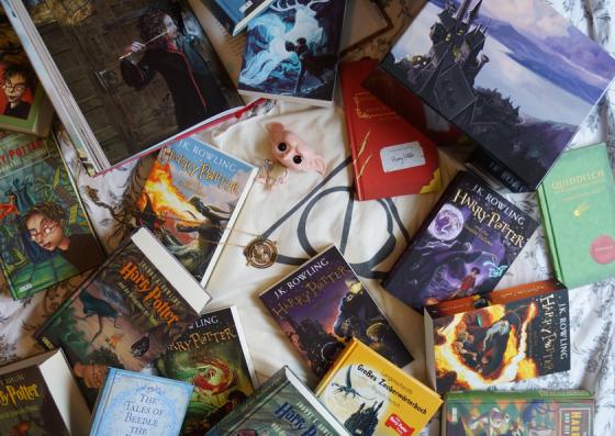 Haha, zu viele Harry Potter Bücher, Filme und Merchandising-Artikel.