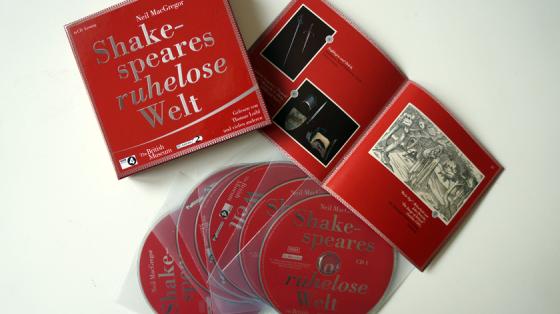 Shakespeares ruhelose Welt von Neil MacGregor erklärt auf sechs CD's Shakespeares Welt.