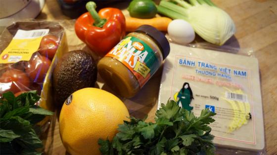 Einkäufe für drei Rezepte aus Clean Eating to Go.