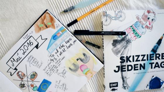 Skizzieren jeden Tag, ein Inspirationsbuch von Karoline Pietrowski.