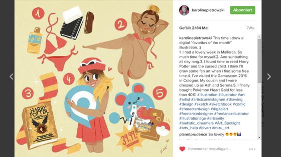 Auf Karoline Pietrowskis Instagram-Account findet ihr noch mehr von ihren Zeichnungen.