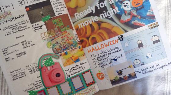 Halloween hat in meinem Journal eine eigene Seite bekommen.