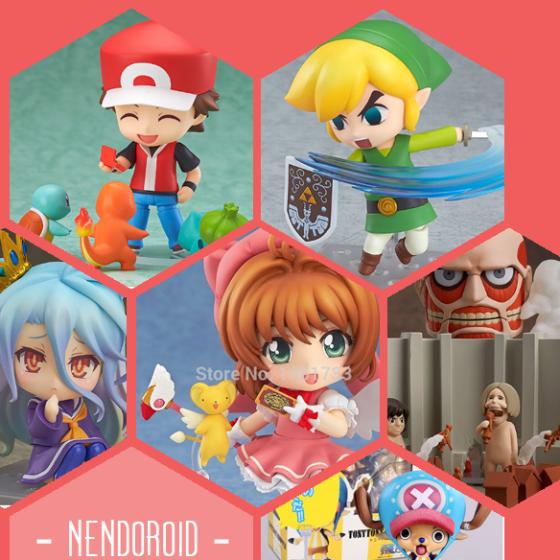 Nendoroids zu Pokémon, The Legend of Zelda, No Game No Life, Card Captor Sakura, Attack on Titan und One Piece.