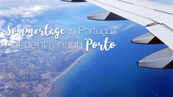 Weit über den Wolken von Portugal.