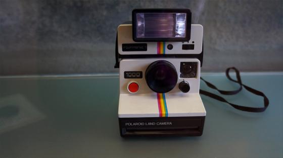 Polaroidkamera im Fotografiemuseum von Porto.