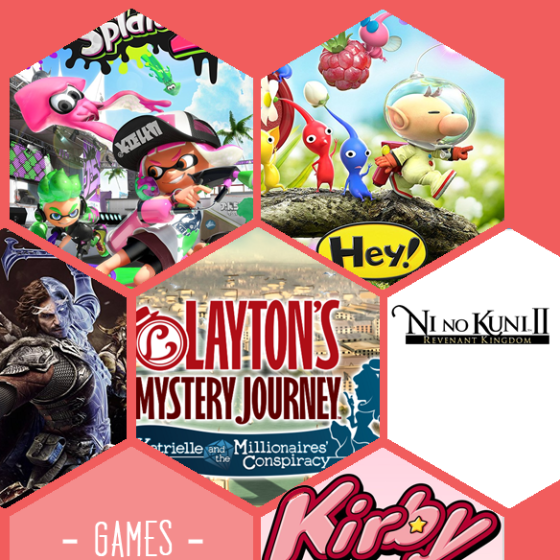Splatoon 2, Hey Pikmin, Mordors Schatten 2, Lady Layton, Ni nu Kuni 2 und Kirby sind nur sechs Neuerscheinungen auf die wir uns in der nächsten Zeit freuen können.