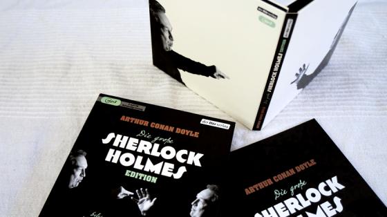 Die Verpackung der große Sherlock Holmes Edition gelesen von Oliver Kalkhofe.