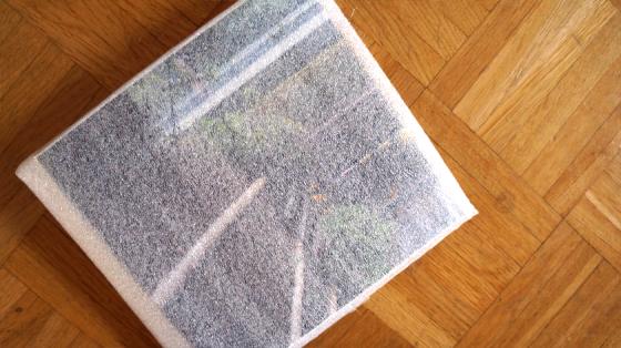 Das Fotobuch selber war sehr gut verpackt.