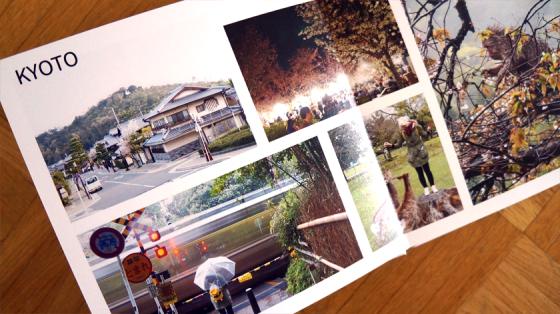 Für das Fotobuch können unterschiedliche Layouts gewählt werden.