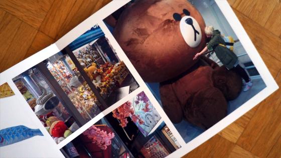 Die Fotos innerhalb des Buches können auf Grund der speziellen Bindung auch über beide Seiten gehen ohne unterbrochen zu werden.