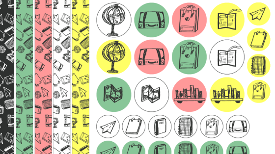 Vorschau des Washitapes und der Sticker aus Inktober-Set 1: Discover the world.