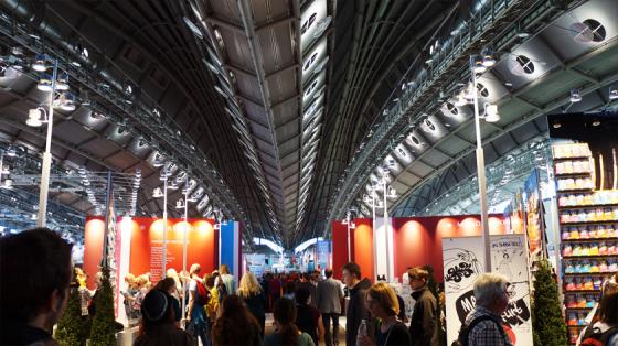 Später ist es auf der Frankfurter Buchmesse sehr viel voller.