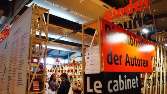 Natürlich gab es daher einen französischen Pavillon mit französischen Büchern und Comics.