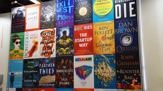 Auch internationale Bücher waren auf der Buchmesse vertreten.
