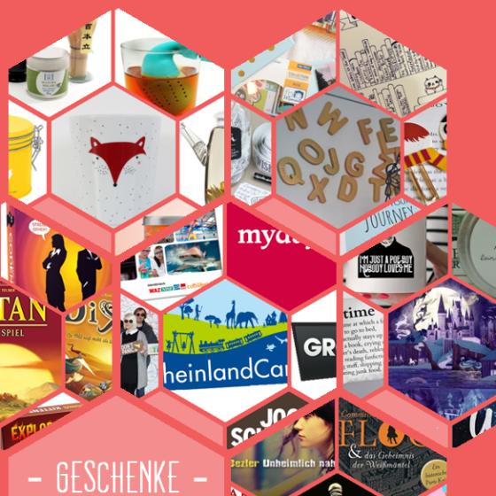 Weihnachtsgeschenkeideen: toller Tee, DIY-Projekte, Gesellschaftsspiele, Gutscheine, Buchgeschenke und Bücher.