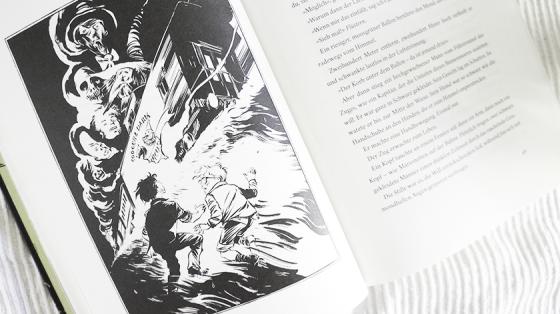 Die neue Ausgabe von Das Böse kommt auf leisen Sohlen, ist mit ebenso unheimlichen Illustrationen erschienen, wie sein Inhalt.