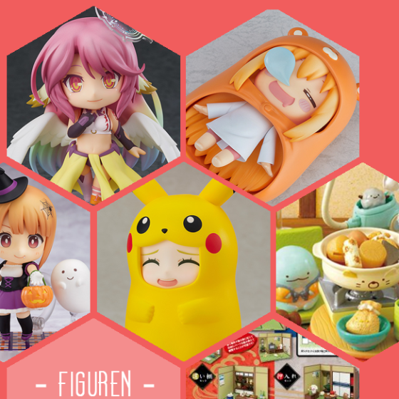 Zu meinen neuen Figuren gehören Nendoroids von Goodsmile und zwei Re-Ment Sets mit Sumikko Gurashi, No Game No Life, Umaru-Chan und Pikachu-Figuren.